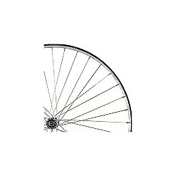 700c Alloy Front Wheel Narrow Section Quick Release Silver Double Wall