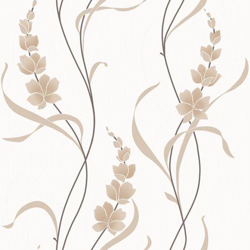 Muriva Angelica Wallpaper - Natural