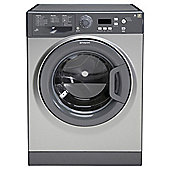 Hotpoint Extra WMXTF822G Washing Machine, 8Kg Wash Load, 1200 RPM Spin, A++ Energy Rating, Graphite
