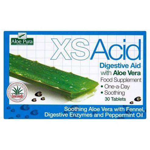Aloe Pura Xs Acid Aloe Vera Digestive Aid Tablets 30 Tablets