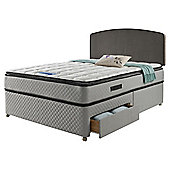 Sealy Pillowtop King Size Non Storage Divan Charcoal