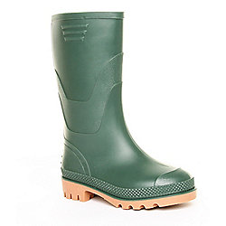 Brantano Boys Basic Welly Green Wellington Boots