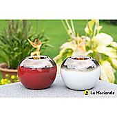 Set of 2 Ceramic Gel Burners (Red and cream)