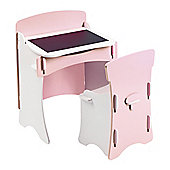 Kidsaw Traditional 2 Piece Desk & Chair Set - Pink