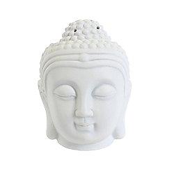White Buddha Head Ceramic Oil Burner