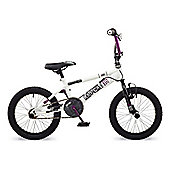 "Rooster Radical 16 BMX Bike White/Purple with 16"" Spoke Wheels"