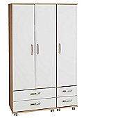 Ideal Furniture Regal 4 Drawer Wardrobe