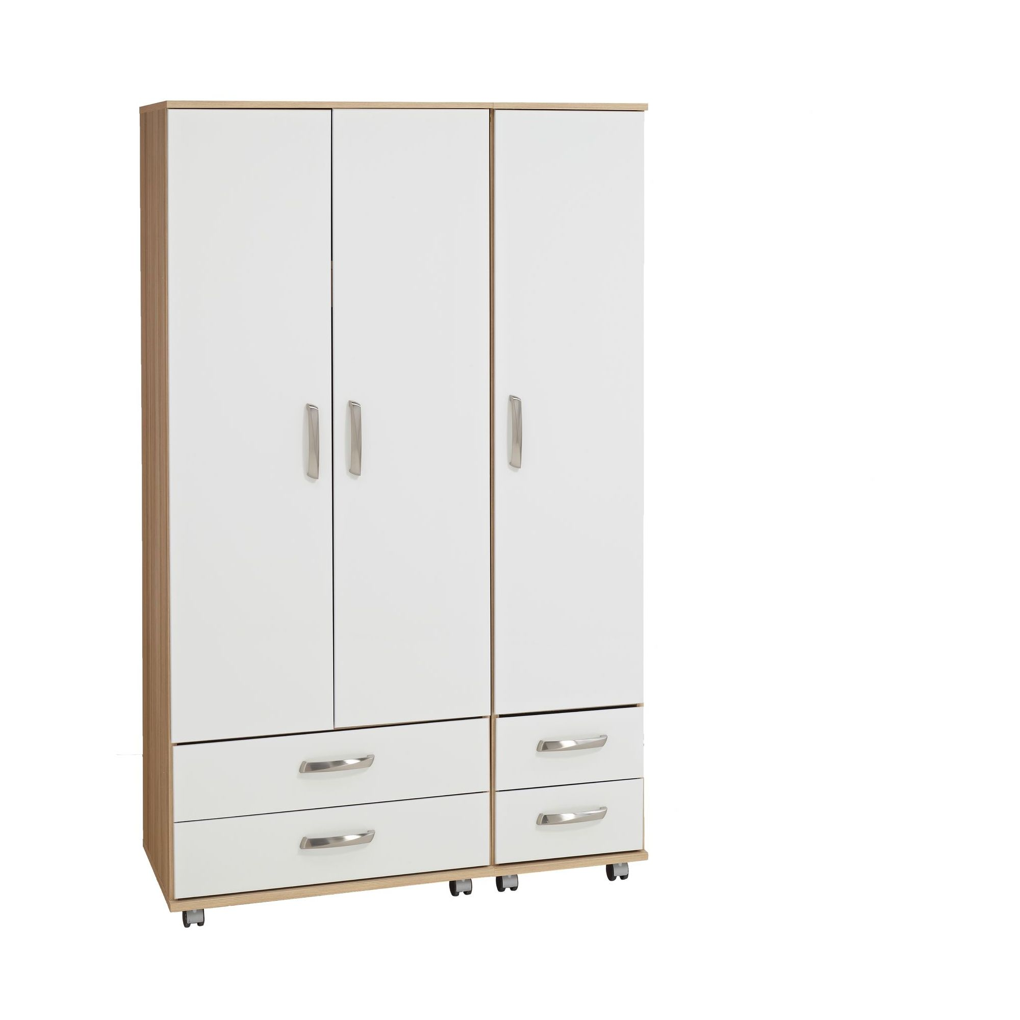 Ideal Furniture Regal 4 Drawer Wardrobe in white at Tesco Direct