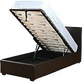 ValuFurniture Prado 3 0 inch Single Black Faux Leather Storage Bed