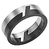 Willis Judd Mens 2 Part Stainless Steel Ring In Velvet Ring Box