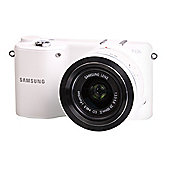 "Samsung NX2000 Digital Camera, White, 20.3MP, 3.7"" Touch LCD Screen, Wi-Fi"