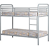 ValuFurniture Bradley 3 0 inch Budget Silver Bunk Bed