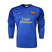 2013-14 Barcelona Away Nike Goalkeeper Shirt (Blue)