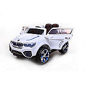 12V DK F000 BMW X5 Style Ride on Car White