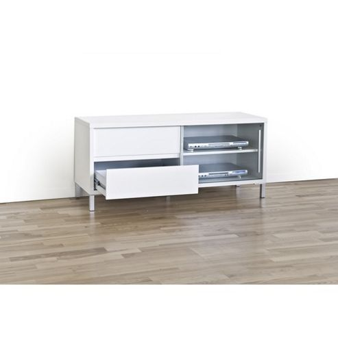 RGE Gute 2 Drawers Multi-Media TV Storage and Display Unit - Lacquer Black High Gloss