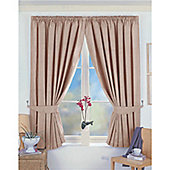 Dreams and Drapes Norfolk 3 Pencil Pleat Blackout Lined Curtains 46x54 inches (117x137cm) - Taupe