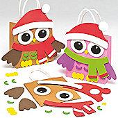 Christmas Owl Gift Bag Kits for Children (4 Pcs)