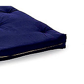 Comfy Living 2ft6 Small Single Futon Mattress in Navy