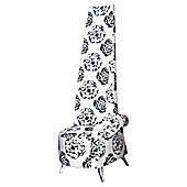 Home Essence Potenza Floral Print Chair in White and Black