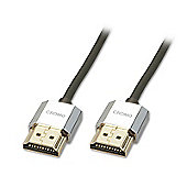 LINDY 41672 2m CROMO Slim High Speed HDMI Cable with Ethernet