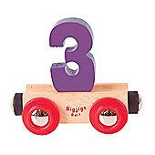 Bigjigs Rail Rail Name Number 3 (Purple)