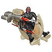 Star Wars Hero Mashers Sith Speeder & Darth Maul Figure