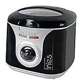 Home Essence 2 Litre Family Deep Fryer with Silver Panel in Black