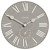 Jones & Co Edgeware Wall Clock 40 x 40cm Grey