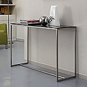 Gillmore Space Mondrian Console Table in Black glass