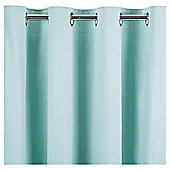 Tesco Plain Canvas Unlined Eyelet Curtain 66x90'' - Eau De Nil