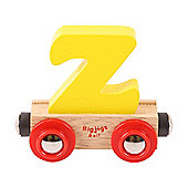 Bigjigs Rail Rail Name Letter Z (Yellow)