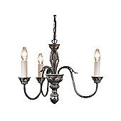 Triple Arm Traditional Antique Pewter Medieval Ceiling Pendant Light