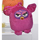 Furby 7cm Keychain - Plush, No Sound - Dark Pink