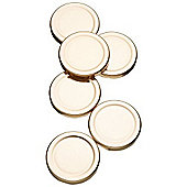 """Kitchen Craft Spare Preserve Jar Lids for 1lb Jars, Pack of Six"""