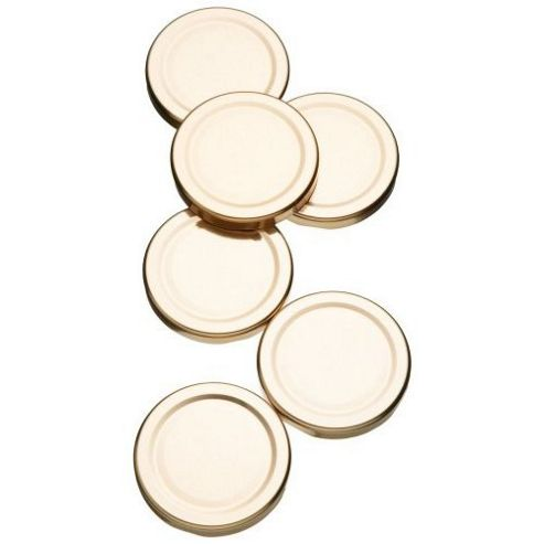 Kitchen Craft Spare Preserve Jar Lids for 1lb Jars, Pack of Six