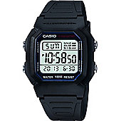 Casio Classic Mens Resin Alarm, Chronograph Watch W-800H-1AVES