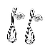 Lily & Lotty Sterling Silver 0.01ct Diamond ROBERTA Earrings