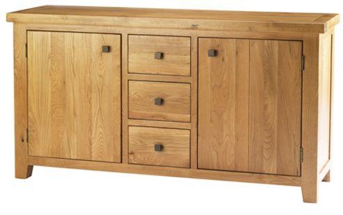 Thorndon Taunton Three Drawer Large Sideboard in Medium Oak