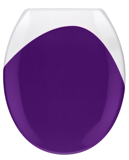 Wenko Wave Toilet Seat - Purple