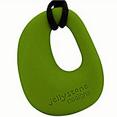 Jellystone Organic Teething Pendant in Pea Pod Green