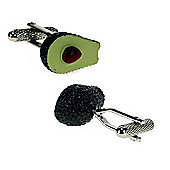 Avocado Novelty Themed Cufflinks