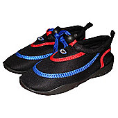 TWF Wetshoes Black/Red/Blue UK size 1/ EU 33