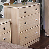 Welcome Furniture Kingston 3 Drawer Chest - Light Oak