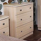 Welcome Furniture Kingston 3 Drawer Chest - Light Oak