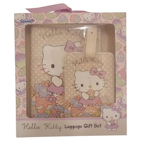 Hello Kitty Passport Cover and Luggage Tag Gift Set