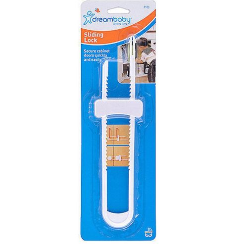 Cabinet Sliding Lock - White - F103 - Dreambaby