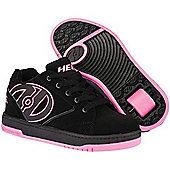 Heelys Propel 2.0 Black/Pink Kids Heely Shoe - Black