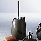 Gedy Stone Toilet Brush - Moka / Chrome
