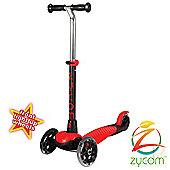 Zycomotion Zycom Zing inc Light Up Wheels - Red/Black