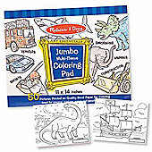 Melissa And Doug Jumbo Multi-Theme Colouring Pad - Blue